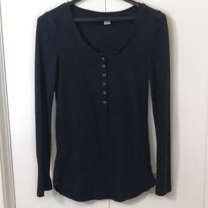 Old Navy blue/green henley shirt